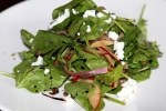 Bacon, Red Onion, Pears, Goat Cheese, Warm Balsamic Dressing