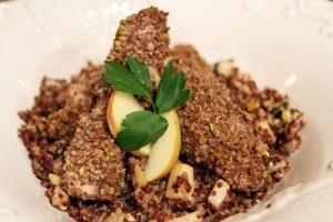 Pistachio Crusted Chicken with Quinoa